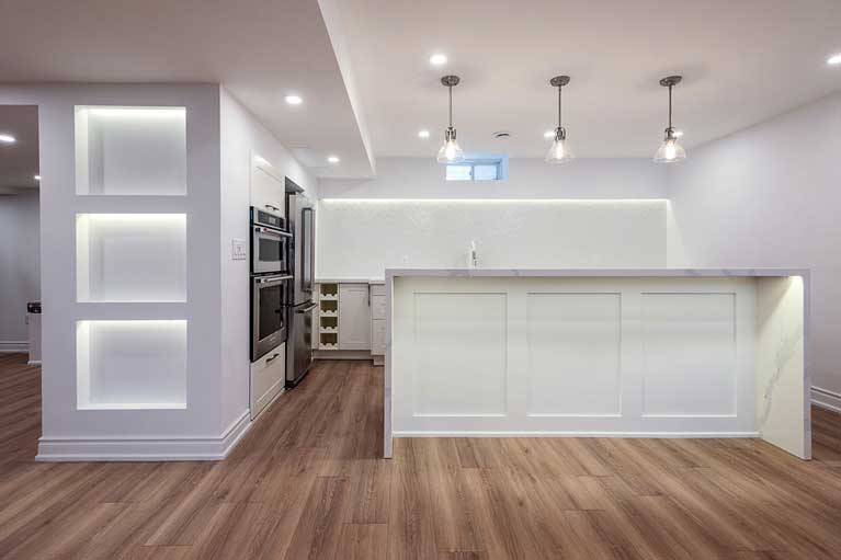 Kitchen in Basement Installation – Caledon