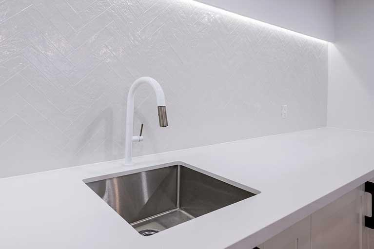 Kitchen Installation in Basement – Caledon