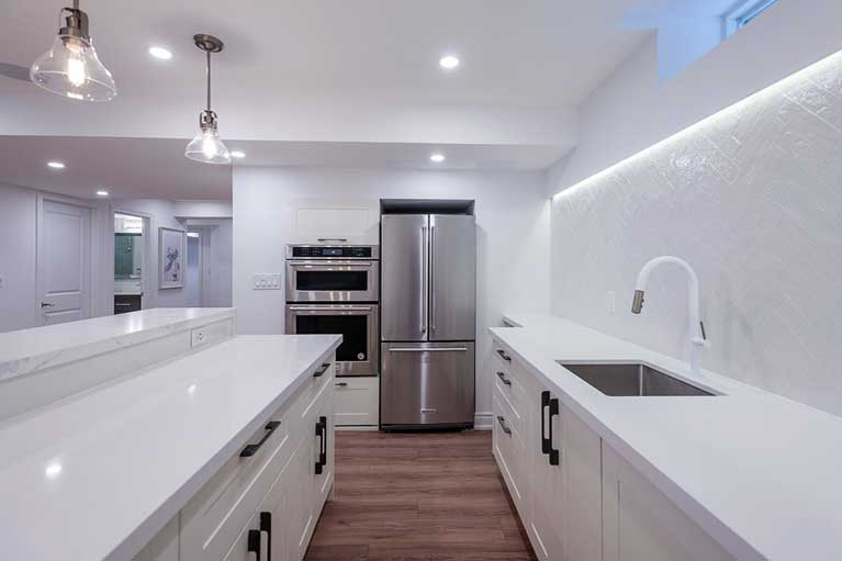 Kitchen in Basement – Caledon