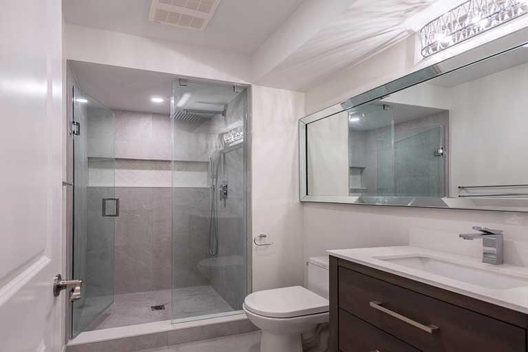 Bathroom in Basement – Caledon
