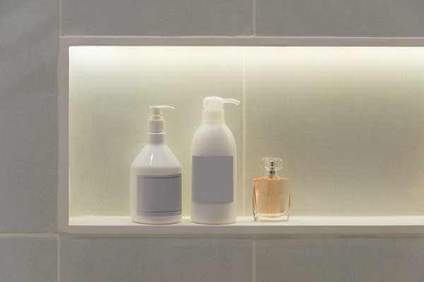 design of shower niche