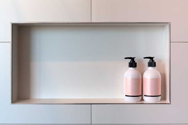 horizontal shower niche
