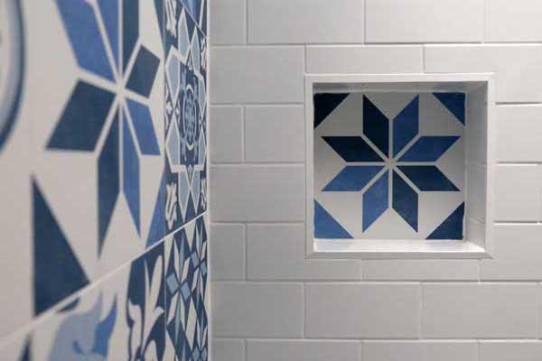 shower niche design