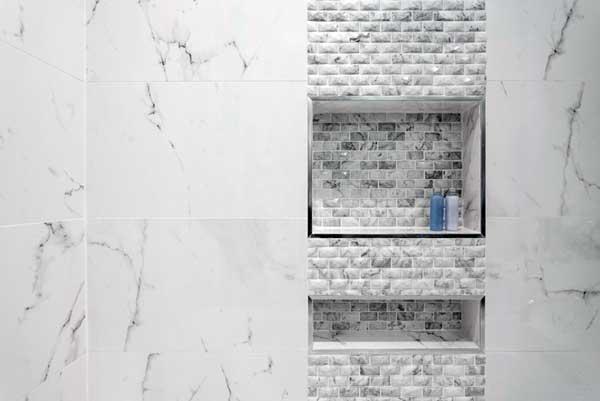 vertical shower niche